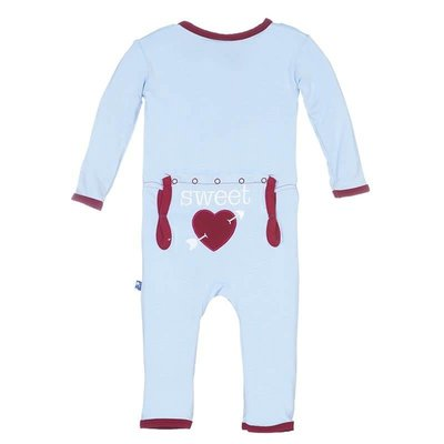 Kickee Pants Pond Sweet Heart Applique Coverall