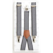 URBAN SUNDAY Black Stripe Suspenders.2-8Y