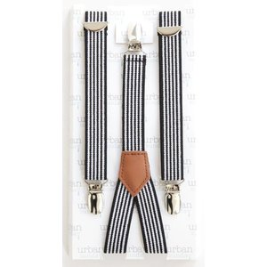 URBAN SUNDAY Black Stripe Suspenders.2-8Y