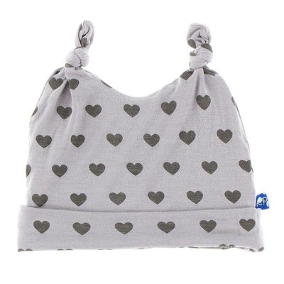 Kickee Pants Print Double Knot Hat (Feather Hearts)