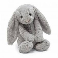 Jelly Cat Bashful Grey Bunny Medium 12""