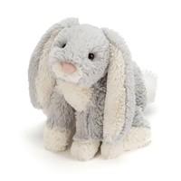 """Jelly Cat Loppy Silver Bunny Medium 10"""""""