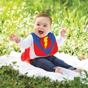 Mud Pie SUPER HERO BIB