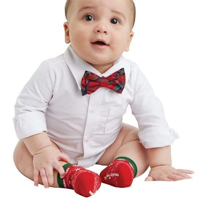 Mud Pie SOCK & BOWTIE SET