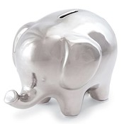 Mud Pie SILVER ELEPHANT BANK