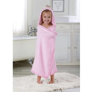 Mud Pie PRINCESS CROWN HOODED TOWEL