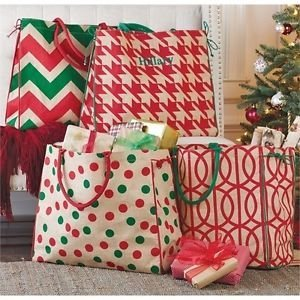 Mud Pie MISTLETOTE.RED HOUNDSTOOTH