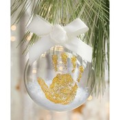 Mud Pie GOLD HANDPRINT ORNAMENT