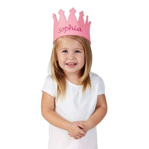 Mud Pie GIRL FELT CROWN.LT PINK