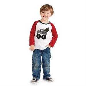 Mud Pie Camo Truck Long Sleeve T Shirt.S(12-18M)