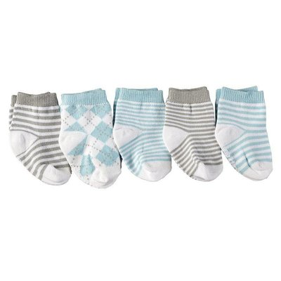Mud Pie BLUE & GRAY BASICS SOCK SET