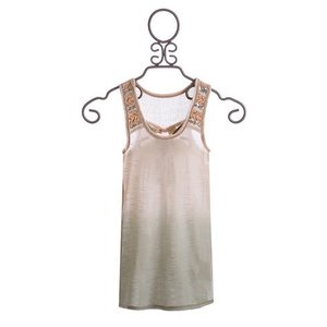 MISS ME BEADED TANK.CREAM.L