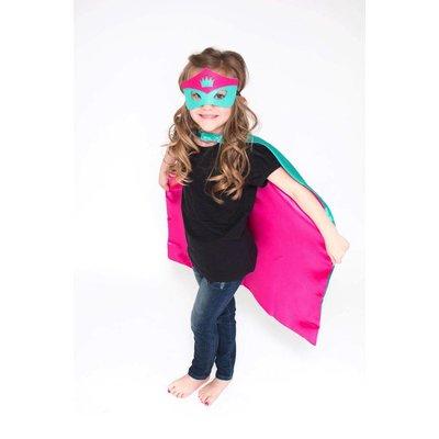 Lincoln&Lexi Superhero Cape-Crown-Teal