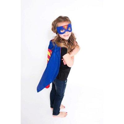 Lincoln&Lexi Superhero Cape & Mask Set-Superman