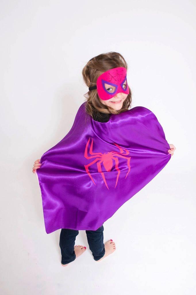 superhero cape mask set spider girl lincoln lexi