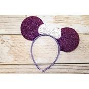 Lincoln&Lexi Sparkly Minnie Headband.Purple/White