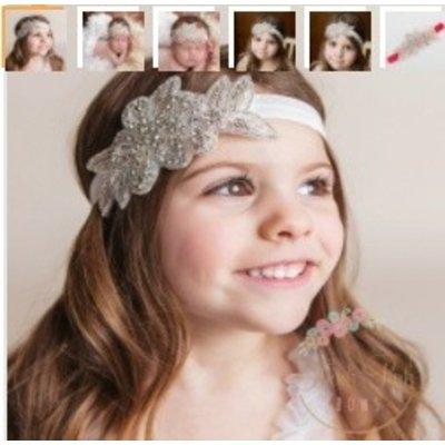 Lincoln&Lexi Rhinestone Flower Headband