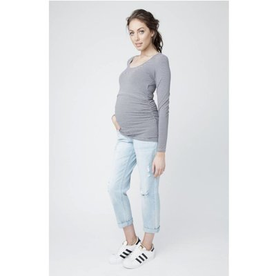 Ripe Maternity Mini Stripe Nursing Tube Tee