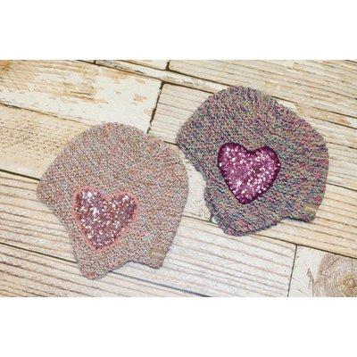 peppercorn kids Sequin Heart Hat