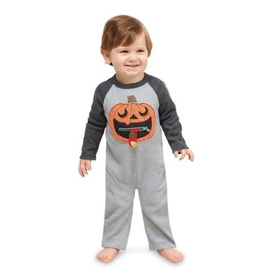 Mud Pie ZIPPER MOUTH PUMPKIN ONE-PIECE