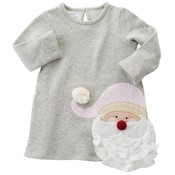 Mud Pie SPARKLE SANTA DRESS