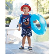 Mud Pie PIRATE SHARK SUN HAT