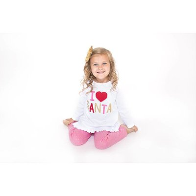 Mud Pie I LOVE SANTA TUNIC TOP