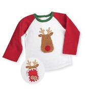 Mud Pie Open Mouth Reindeer Long Sleeve T Shirt