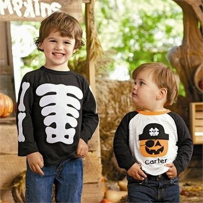 Mud Pie Boy Skelton Shirt