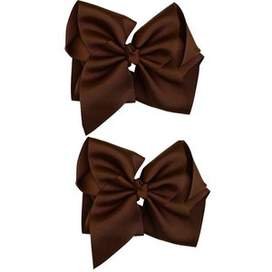 """juDanzy Classic Extra Large Bow.Chocolate.5"""""""