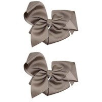 """juDanzy Classic Extra Large Bow.Grey.5"""""""