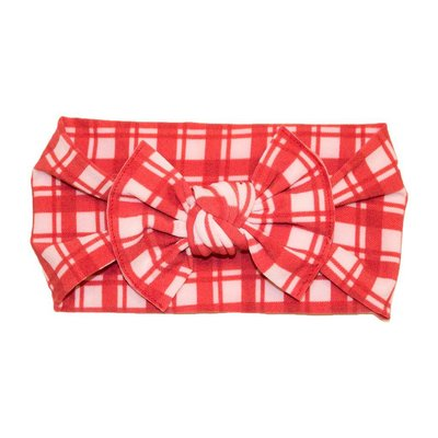 Baby Bling Printed Knot (Red Plaid)