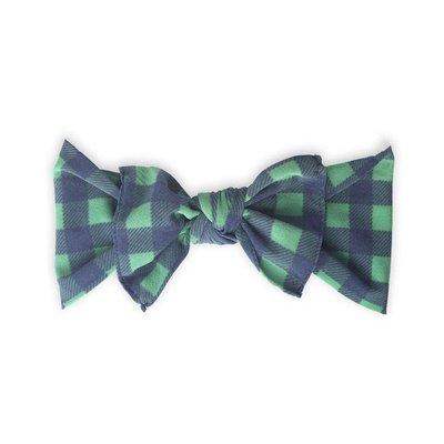 Baby Bling Printed Knot (Navy/Green Buffalo Plaid)