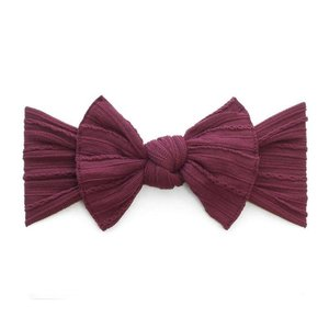 Baby Bling Cable Knit Knot (Burgundy)
