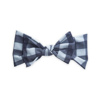Baby Bling Printed Knot (Grey/Black Buffalo Plaid)