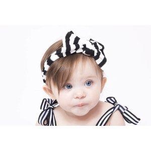 Baby Bling Patterned Knot (Black/White Stripe)