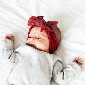 Baby Bling Metallic Knot (Cherry)