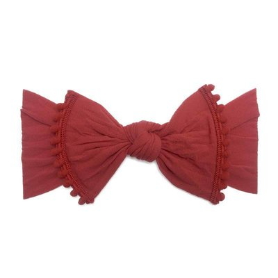 Baby Bling Trimmed Classic Knot (Cherry)