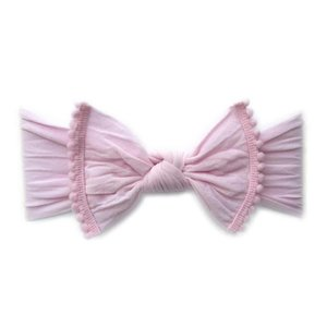 Baby Bling Trimmed Classic Knot (Pink Pom)