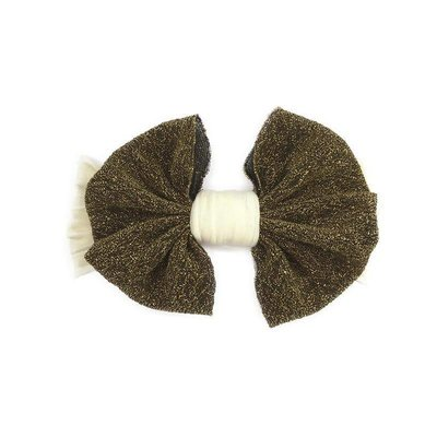 Baby Bling XX Jersey Bow (Gold Metallic)
