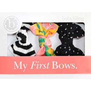 Baby Bling A Gift For You: Black Stripe/Floral/Shabby Black Dot
