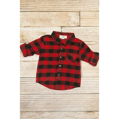 Lincoln&Lexi Buffalo Plaid Button Up