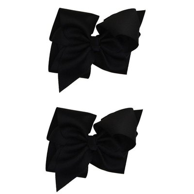 juDanzy Extra Large Hair Bow-Black