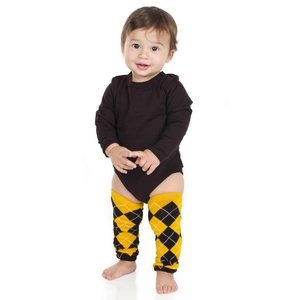 juDanzy Team Black and Gold Argyle Leg Warmers