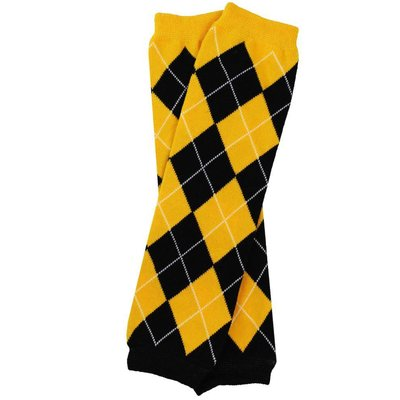 juDanzy Team Black and Gold Argyle Leg Warmers