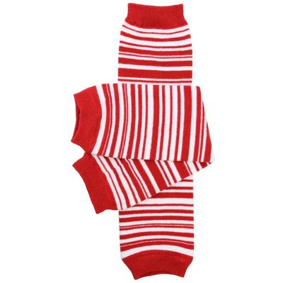 juDanzy Red Candy Stripe Leg Warmers