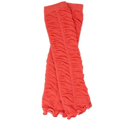 juDanzy Coral Rouched Leg Warmers