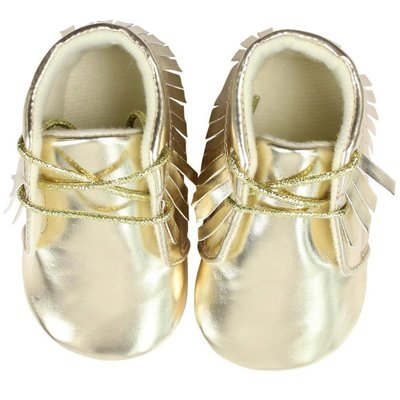 juDanzy Gold Moccasins