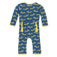 Lincoln&Lexi Print Coverall with Zipper (Twilight Pretzel Pup)