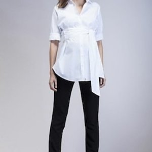 Isabella Oliver Tie Front Blouse